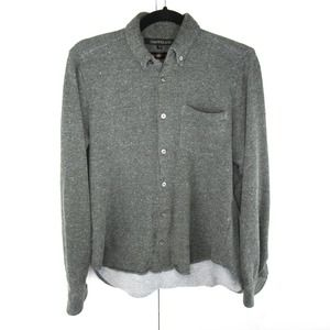 Timo Weiland Knit Terry Button Up Shirt